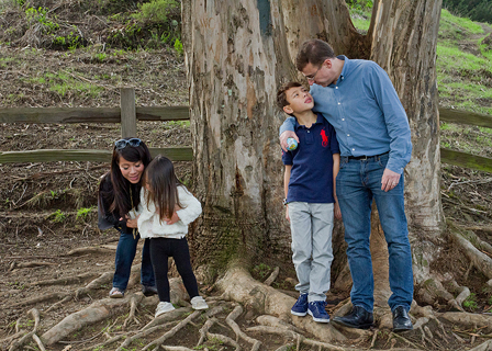 Noe Valley Family Photos on location at Billy Goat Hill