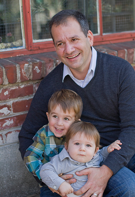 Oakland Family Photography - dad and sons