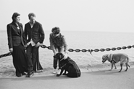 Black and White Film Family Photos San Francisco, CA - pet photography