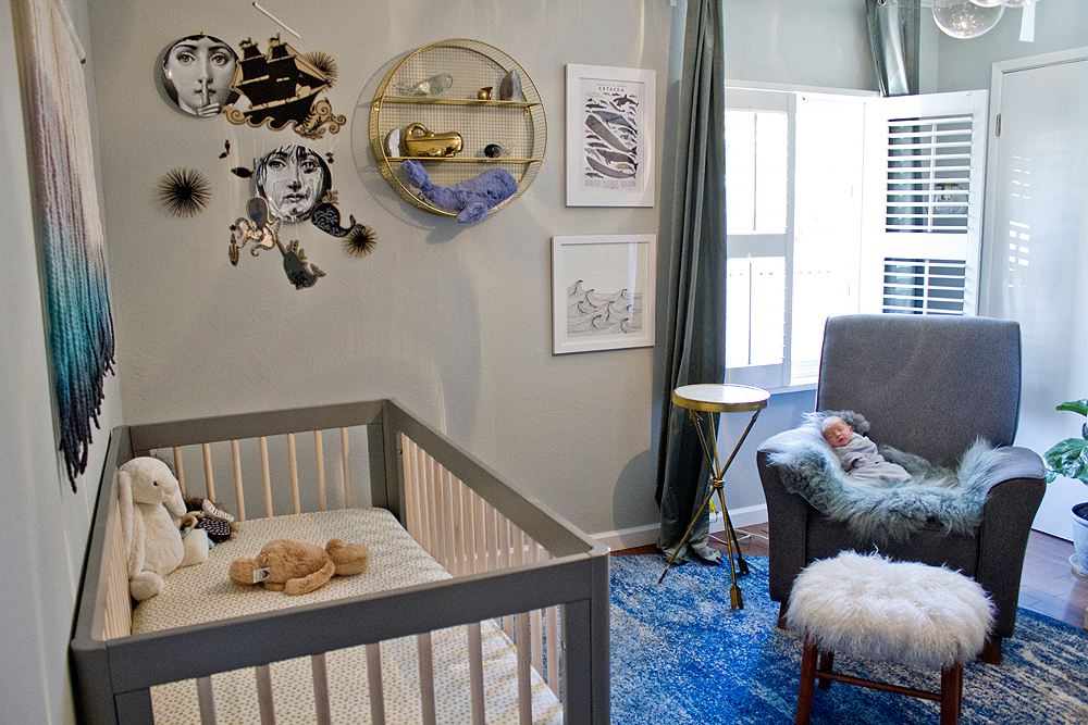 oakland in-home newborn photos - nursery design