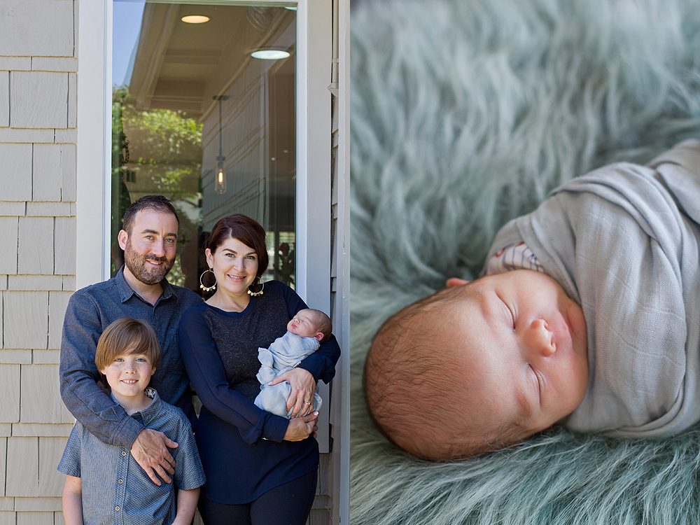 oakland in-home newborn photos