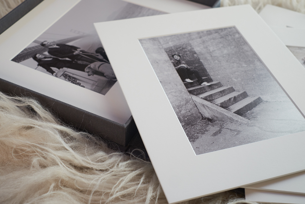 matted print box   Family Photo Display Pieces   Modern Family Photographer