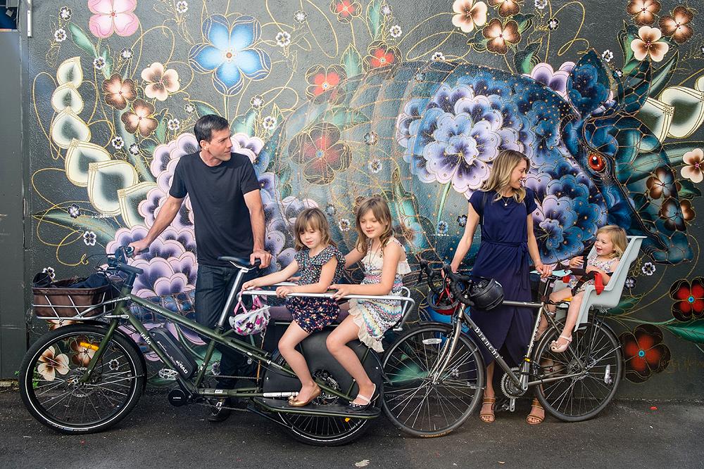wall mural family portrait - san francisco, california