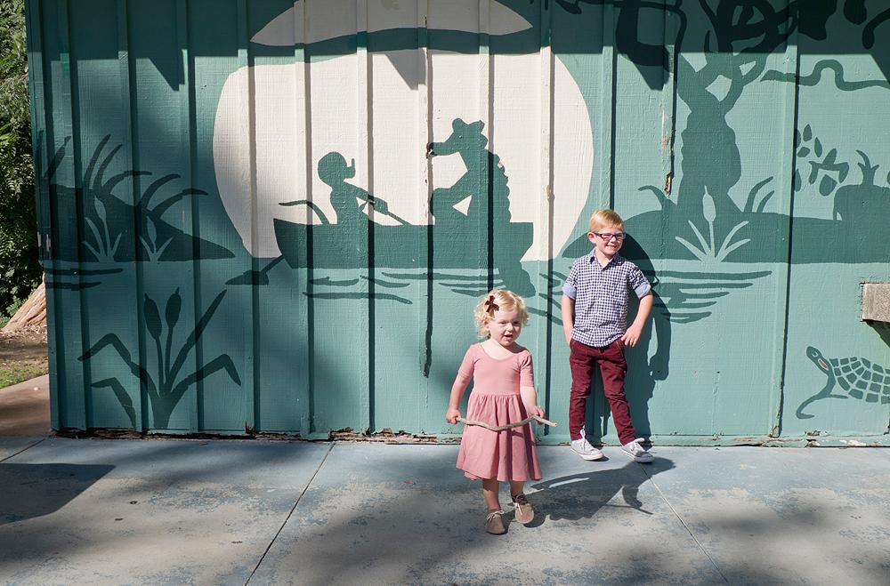 wall mural family portrait - long beach, california