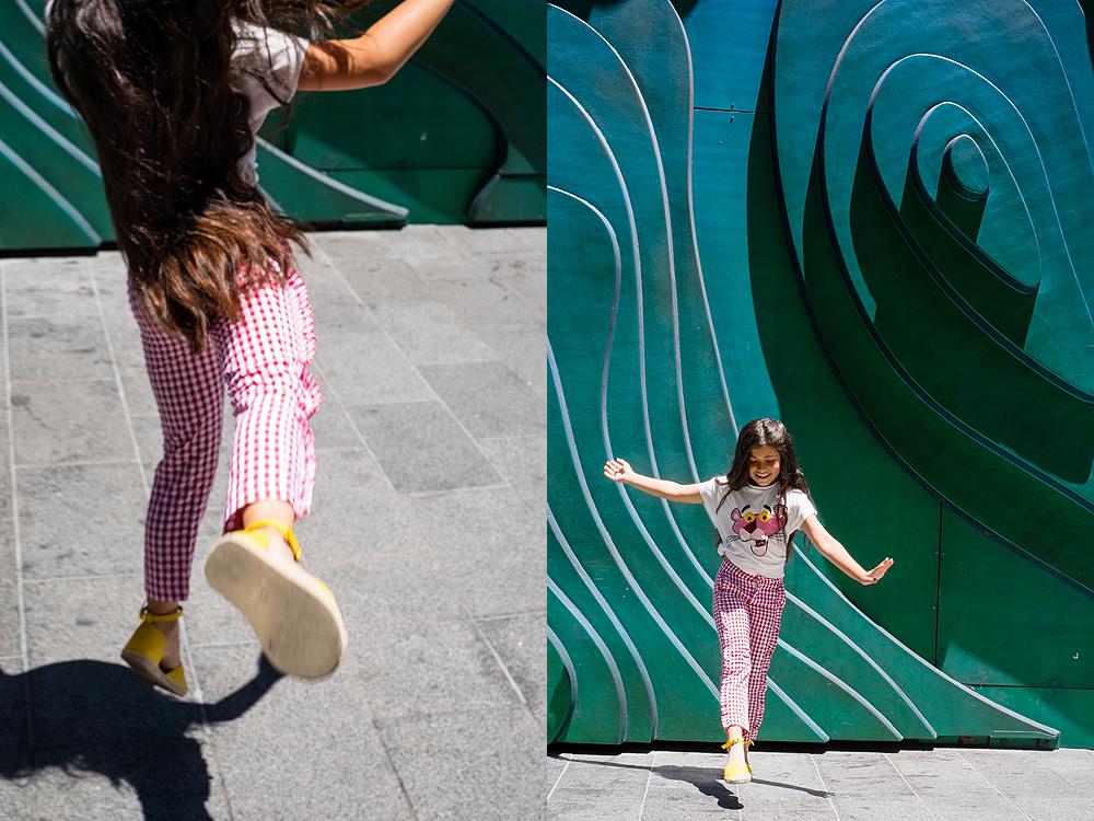 oakland kids photo shoot - wall mural family portrait
