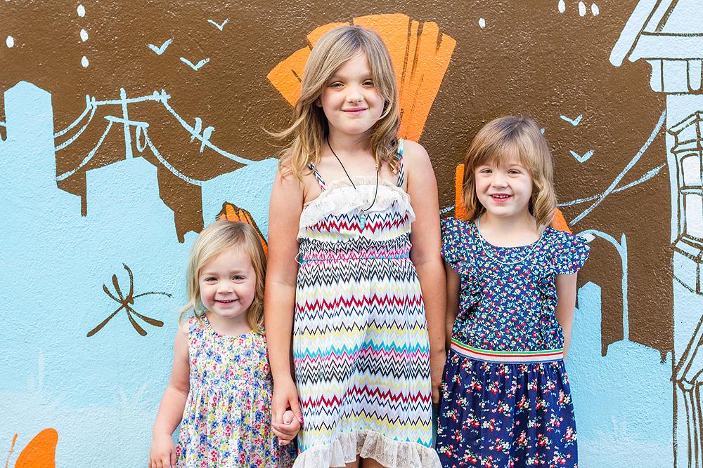 wall mural family portrait - san francisco bay area